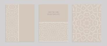 Szablony dla witać i wizytówki, broszurki, pokrywy z tureckimi motywami ilustracja wektor