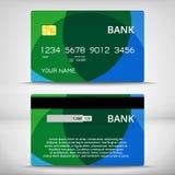 Szablony kredytowych kart projekt Obrazy Stock