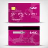 Szablony kredytowych kart projekt Fotografia Stock