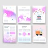 szablony Projekta set sieć, poczta, broszurki Obrazy Royalty Free