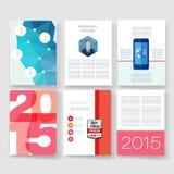 szablony Projekta set sieć, poczta, broszurki Obrazy Stock