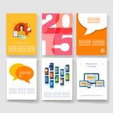 szablony Projekta set sieć, poczta, broszurki Zdjęcia Stock