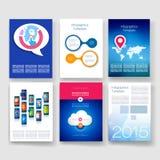 szablony Projekta set sieć, poczta, broszurki Fotografia Royalty Free