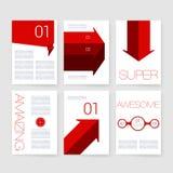 szablony Projekta set sieć, poczta, broszurki Zdjęcia Royalty Free