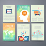 szablony Projekta set sieć, poczta, broszurki Obraz Royalty Free