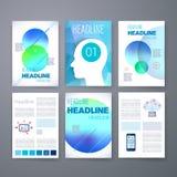 szablony Projekta set sieć, poczta, broszurki Zdjęcie Royalty Free