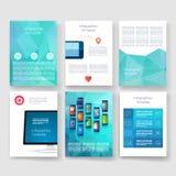 szablony Projekta set sieć, poczta, broszurki Obraz Stock