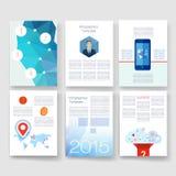 szablony Projekta set sieć, poczta, broszurki Fotografia Stock