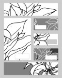 Szablony z abstrakcjonistycznymi elementami dla oznakować i tożsamości ilustracja wektor
