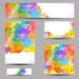Szablony z abstrakcjonistycznymi geometrical trójbokami Obraz Stock