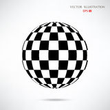 Szachowa balowa Abstrakcjonistyczna szachowa sfera Zdjęcie Royalty Free