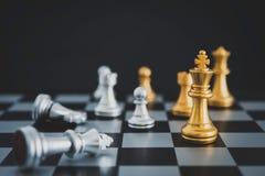 Szachowa deska - konkurencyjny biznesowy pomysł udawać się obraz stock