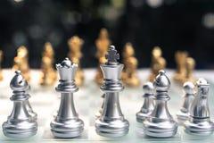 Szachowa gra E r Biznesowy konkurencyjny poj?cie obraz stock