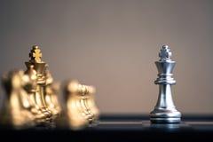 Szachowa gra planszowa, biznesowy konkurencyjny pojęcie fotografia stock