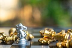Szachowa gra planszowa, biznesowy konkurencyjny pojęcie obraz stock