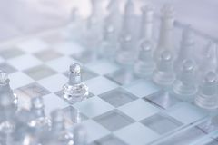 Szachowa gra planszowa, biznesowy konkurencyjny pojęcie obraz royalty free