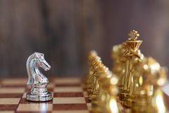 Szachowa gra planszowa, biznesowy konkurencyjny pojęcie fotografia royalty free