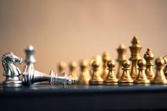 Szachowa gra planszowa, biznesowy konkurencyjny poj?cie fotografia stock