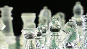 Szachowa gra Robić szkłem zbiory wideo