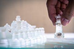 Szachowa gra Ruszać się dla przewagi gra Biznes konkurencyjny obraz royalty free