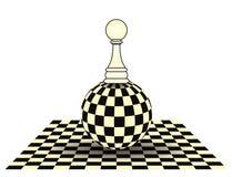 Szachowa pionek karta royalty ilustracja