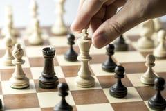Szachowa postać, biznesowa pojęcie strategia, przywódctwo, drużyna i su, Fotografia Stock