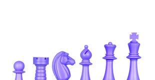 Szachowe błękit postacie Zdjęcia Royalty Free