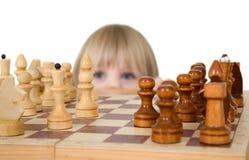 szachowej dziewczyny mały target2562_0_ Obrazy Stock