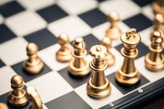 Szachowej gry początek zdjęcie royalty free