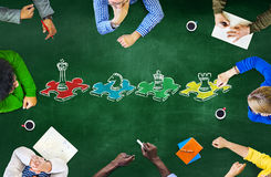Szachowej gry strategii czasu wolnego rozrywki odtwarzania pojęcie Obraz Stock
