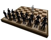 szachowi abstrakcjonistyczni biznesmeni Zdjęcie Stock