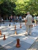Szachowi gracze w mieście Zdjęcie Stock