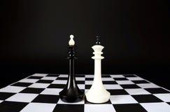 szachowi królewiątka dwa Bitwa równi konkurenci Fotografia Stock