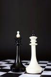 szachowi królewiątka dwa Bitwa równi rywale Obrazy Royalty Free