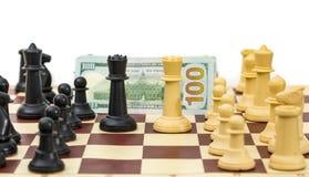 Szachowi przeciwnicy dla pieniądze Obraz Royalty Free