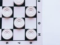 Szachownica z warcabami Strategii biznesowej rywalizacja, planowanie strategiczne dla wygranego sukcesu hobby zdjęcie stock