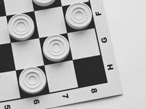 Szachownica z warcabami Strategii biznesowej rywalizacja, planowanie strategiczne dla wygranego sukcesu hobby obraz stock