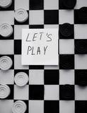 Szachownica z warcabami Strategii biznesowej rywalizacja, planowanie strategiczne dla wygranego sukcesu hobby zdjęcia stock