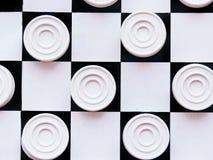 Szachownica z warcabami Strategii biznesowej rywalizacja, planowanie strategiczne dla wygranego sukcesu hobby fotografia stock