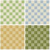 szachownicy liść wzór bezszwowy Zdjęcia Stock