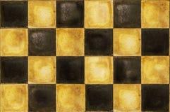 szachownicy retro podłogowy stary Obraz Royalty Free