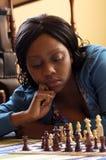 szachowy bawić się dziewczyny zdjęcie stock