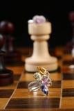 Szachowy jewellery Zdjęcia Royalty Free