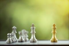 Szachowy kawałek na Chessboard Obrazy Royalty Free