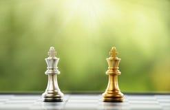 Szachowy kawałek na Chessboard Zdjęcie Royalty Free