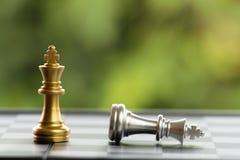 Szachowy kawałek na Chessboard Obraz Stock
