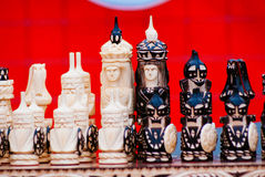 szachowy królewiątka królowej set Fotografia Royalty Free
