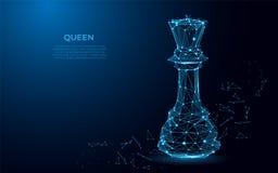Szachowy królowa symbol władza Abstrakcjonistyczny wizerunek luksusowa władza w postaci gwiaździstej przestrzeni lub nieba ilustracja wektor