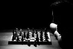 szachowy mężczyzna bawić się Obraz Stock