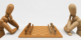 szachowy mannequin Obrazy Royalty Free